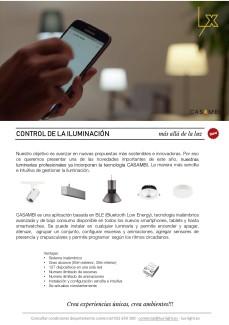 Control de la iluminación con  TECNOLOGÍA CASAMBI