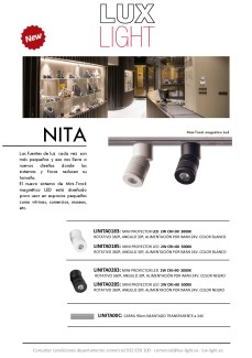 NITA - Nuevo sistema de Mini-Track magnético LED
